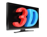 télévision du concept 3d Photographie stock