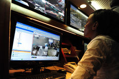 Télévision en circuit fermé Photo libre de droits