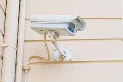 Télévision en circuit fermé blanche Photographie stock libre de droits