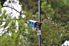 Télévision en circuit fermé, caméra vidéo externe, propriété Survelliance photographie stock