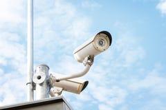 Télévision en circuit fermé ou vidéo surveillance Photo stock