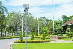 Télévision en circuit fermé pour le parc public avec pour la sécurité images stock