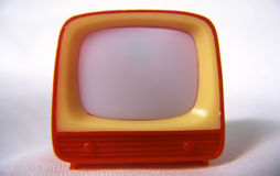 Télévision en plastique Photos libres de droits