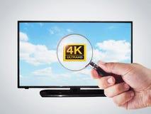 télévision 4k Photos stock