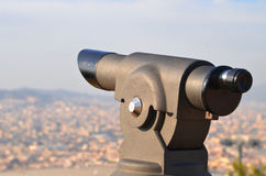 Télescope à Barcelone Images stock