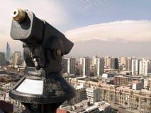 Télescope à Santiago Photographie stock