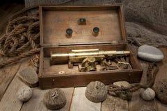 Télescope antique Image libre de droits