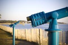 Télescope bleu Photographie stock