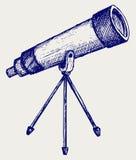 Télescope dans le trépied illustration stock