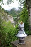 Télescope de touristes Photo stock