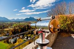 Télescope de vue d'Alpes à Salzbourg Photographie stock