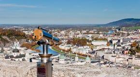 Télescope de vue de ville à Salzbourg Photos libres de droits