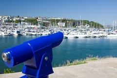 Télescope public donnant sur Harbourside Image libre de droits