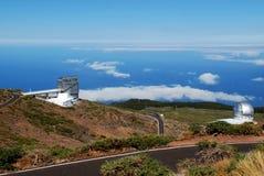 Télescopes à la La Palma Images libres de droits