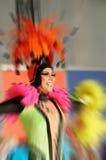 TÉNÉRIFE, 12 FÉVRIER : Groupe dans le carnaval Images stock