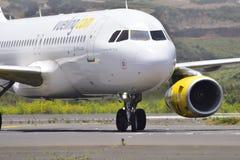 TÉNÉRIFE 27 JUILLET : Atterrissage plat, le 27 juillet 2017, canari de Ténérife Images stock
