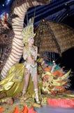 TÉNÉRIFE, LE 11 FÉVRIER : Grand choix pour la reine du carnaval Image libre de droits
