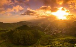 Ténérife sur le coucher du soleil Photos stock