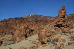Ténérife, vue du nègre de Tabonal pour monter Teide photographie stock libre de droits