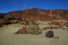 Ténérife, vue du nègre de Tabonal pour monter Teide image stock
