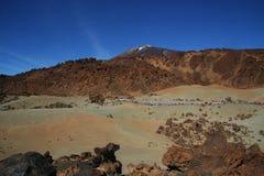 Ténérife, vue du nègre de Tabonal pour monter Teide photo stock
