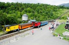 Término da estrada de ferro de roda denteada, Mt Washington, NH Imagem de Stock Royalty Free