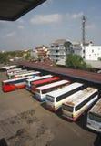 Término de autobuses Fotos de archivo