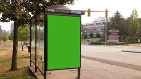 Término de autobuses almacen de metraje de vídeo