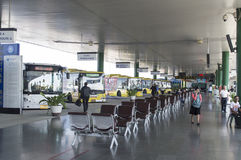 Término de autobuses Imagen de archivo libre de regalías