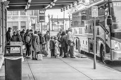 Término de autobuses Fotografía de archivo libre de regalías