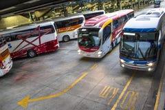 Término de autobuses imagen de archivo