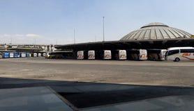 Término de autobuses central TAPO en Ciudad de México Foto de archivo