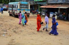 Término de autobuses, costa este de Srí Lanka fotografía de archivo