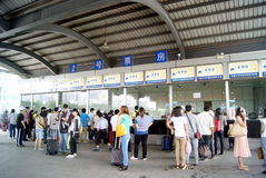 Término de autobuses de Dongguan, en China foto de archivo libre de regalías