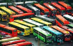Término de autobuses de Mien Dong Fotografía de archivo