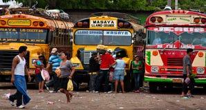 Término de autobuses de Nicaragua Imagen de archivo libre de regalías
