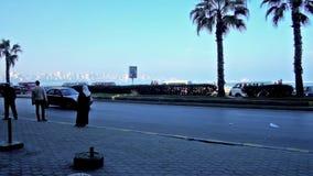 Término de autobuses en Alexandría, Egipto almacen de video