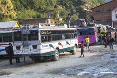 Término de autobuses en Beni Imagen de archivo libre de regalías