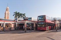 Término de autobuses en Hong-Kong Fotografía de archivo libre de regalías