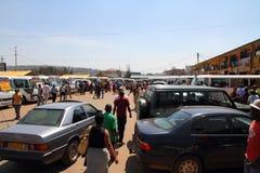 Término de autobuses en Kigali, Rwanda Imagen de archivo libre de regalías