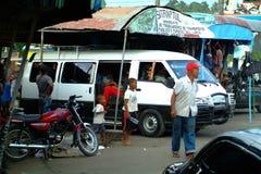 Término de autobuses en Samana Fotos de archivo libres de regalías