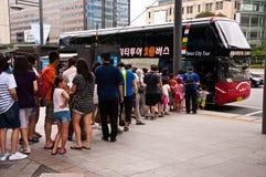 Término de autobuses en Seul, Corea. Imagenes de archivo
