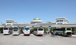 Término de autobuses en Tetouan, Marruecos fotografía de archivo libre de regalías