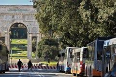 Término de autobuses de Génova imagen de archivo