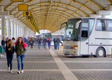 Término de autobuses de Zadar fotografía de archivo