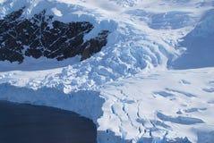 Término del glaciar Imagen de archivo libre de regalías