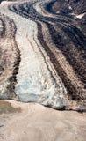 Término 2 del glaciar de Arial Imágenes de archivo libres de regalías