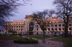 Término del tren y de autobuses en Vancouver Fotos de archivo libres de regalías