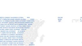 Términos de la comunidad en línea que forman el mapa del mundo libre illustration