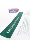 Términos de la tarjeta de crédito Foto de archivo libre de regalías